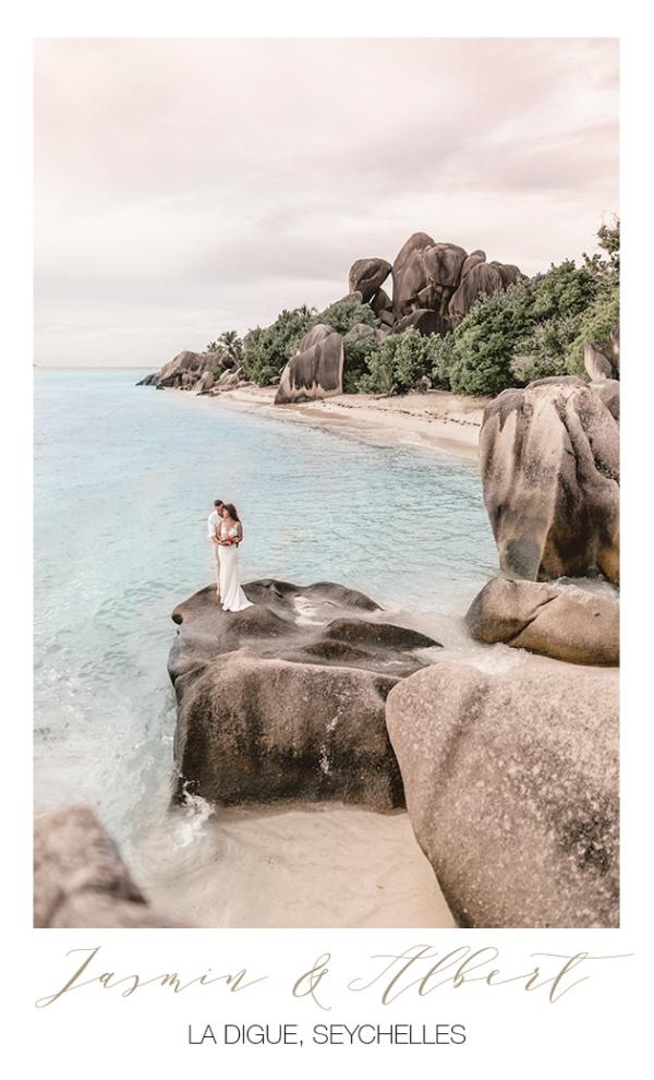 Hochzeitsfotograf mit bei Hochzeit auf den Seychellen