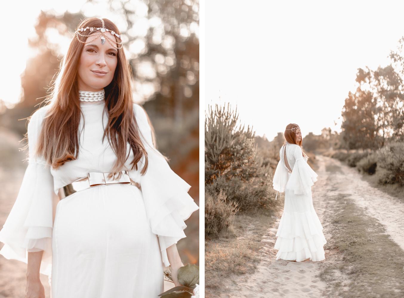 Lena Terlutter Schwangerschaftsshooting in Brautkleid Kaviar Gauche