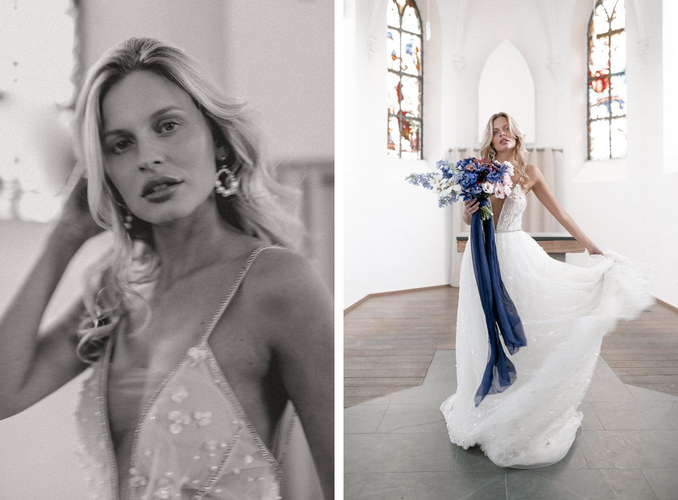 Braut in Tal Kedem Hochzeitskleid Hochzeitsfotograf