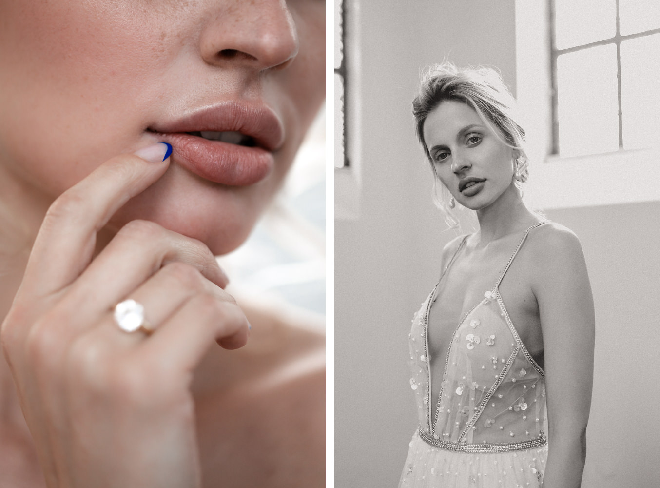 Braut Portrait mit Tal Kedem Brautkleid