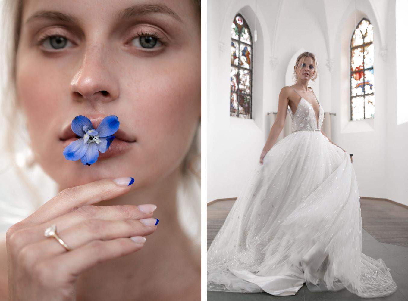 Braut in Tal Kedem Hochzeitskleid Inspiration von Hochzeitsfotograf