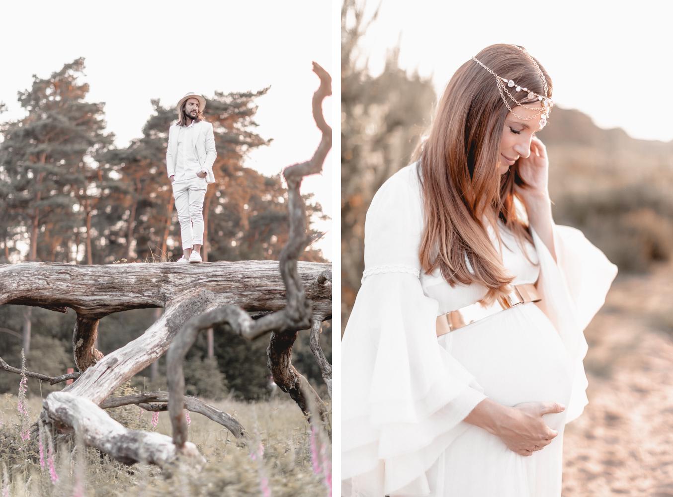Schwangerschaftsshooting mit Lena Terlutter in der Wahner Heide Köln Fotograf